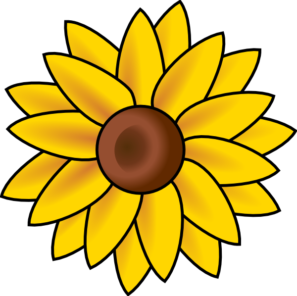 Clipart sun on flowers graphic library stock Sun Flower Clip Art at Clker.com - vector clip art online, royalty ... graphic library stock