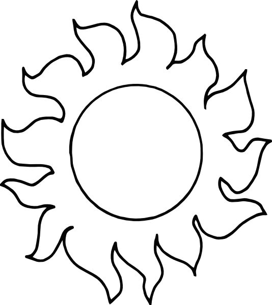 Clipart sun outline jpg freeuse download Sun With Rays Outline Clip Art at Clker.com - vector clip art online ... jpg freeuse download
