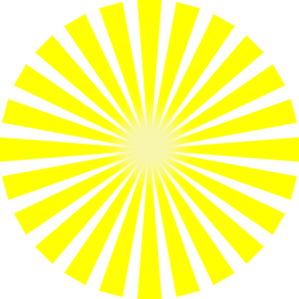 Sun clipart graphic banner black and white Sun Rays Star Burst Clip Art at Clker.com - vector clip art online ... banner black and white