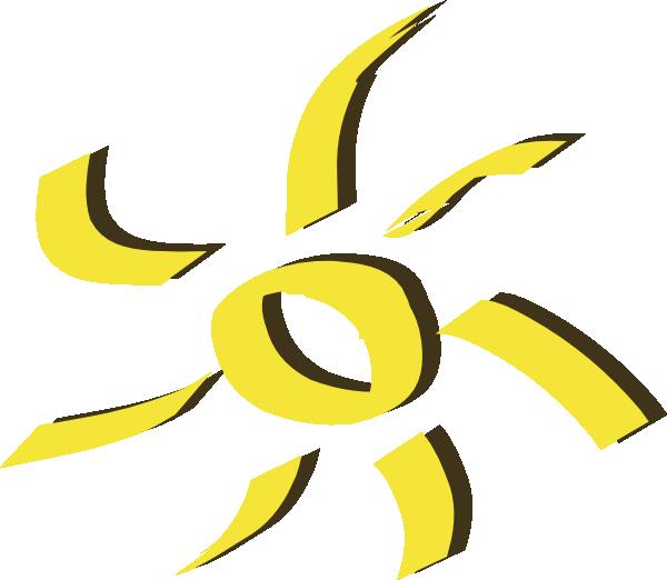 Clipart sun shining image black and white stock Shining Yellow Sun Clip Art at Clker.com - vector clip art online ... image black and white stock