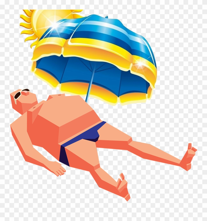 Sunbathing clipart clip art freeuse download Umbrella Art Sunbathing Man Transprent Png Free - Sunbathing Clipart ... clip art freeuse download