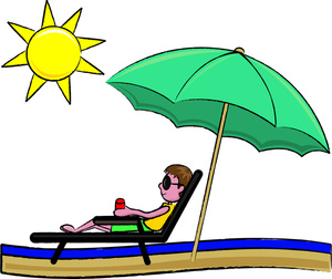 Warm day clipart vector royalty free library Sunbathing Clipart Image: | Clipart Panda - Free Clipart Images vector royalty free library