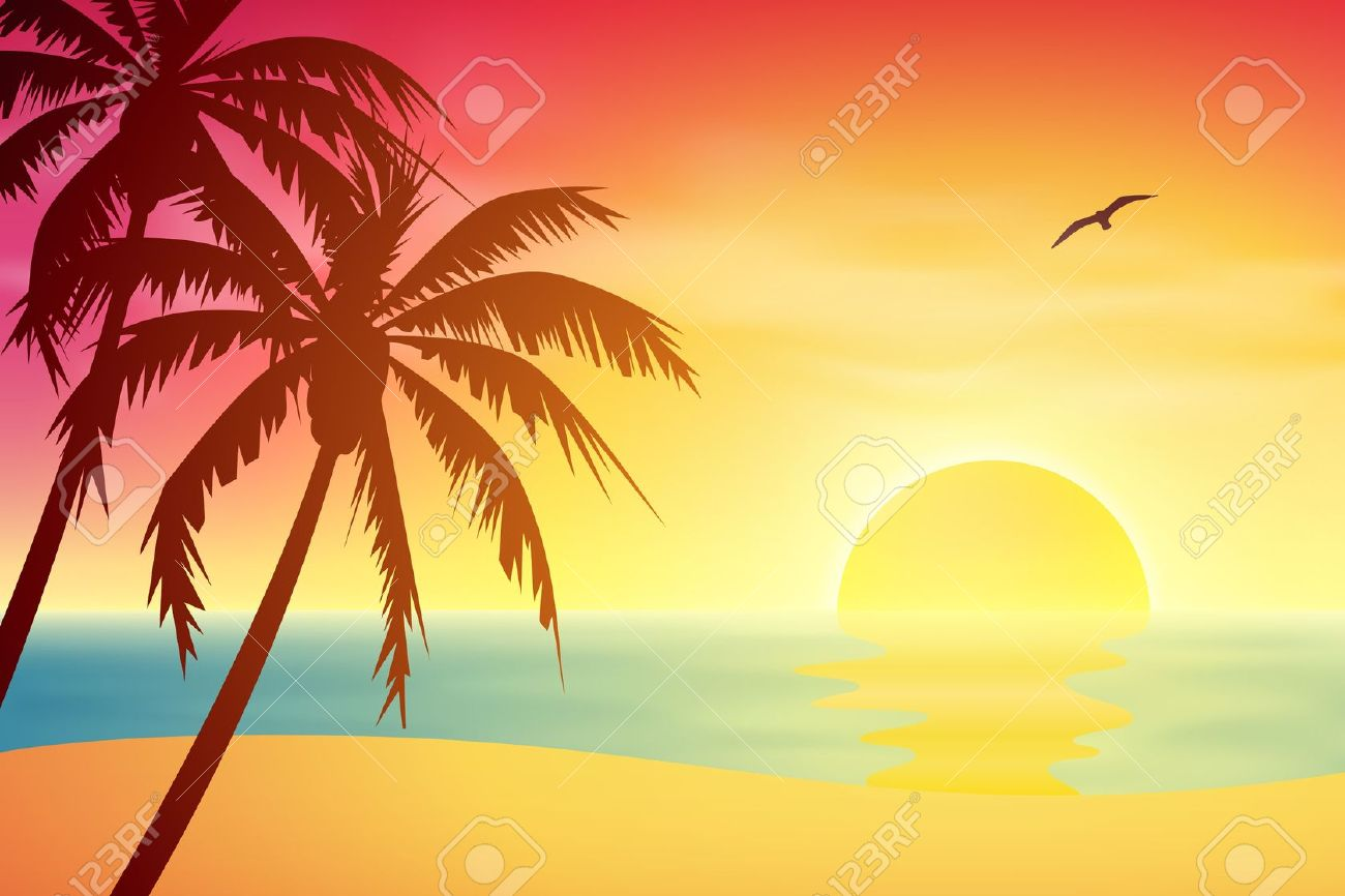 Clipart sunset beach picture library download Free Tropical Sunset Cliparts, Download Free Clip Art, Free Clip Art ... picture library download