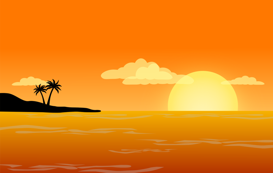 Clipart sunset beach svg library stock Sun Cartoon clipart - Beach, Sunset, Sea, transparent clip art svg library stock