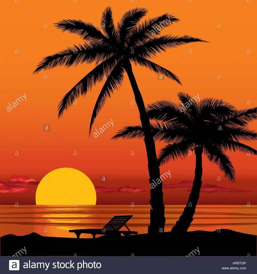 Clipart sunset beach svg transparent Download beach with palm tree sunset clipart Sunset Clip art ... svg transparent
