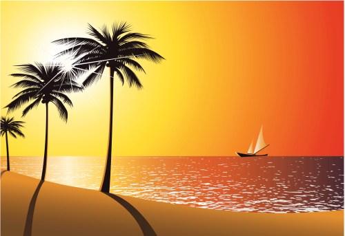 Clipart sunset beach png Sunset beach clipart » Clipart Portal png