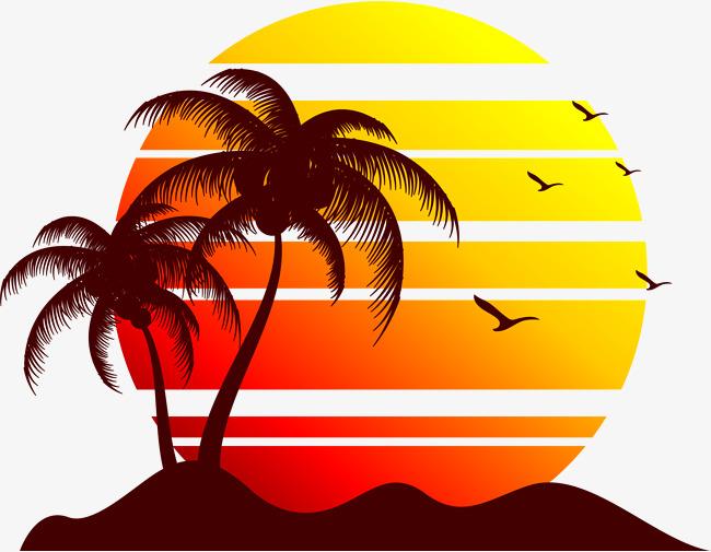 Clipart sunset beach clip Sunset Beach Clipart | Free download best Sunset Beach Clipart on ... clip
