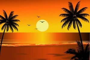 Clipart sunset beach graphic Sunset beach clipart 2 » Clipart Portal graphic