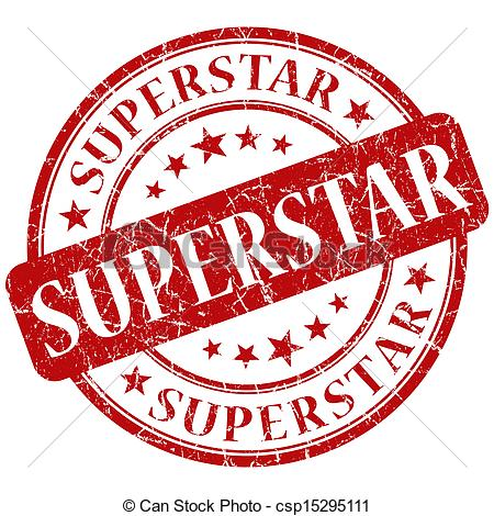 Superstar and stock illustrations. Clipart super star