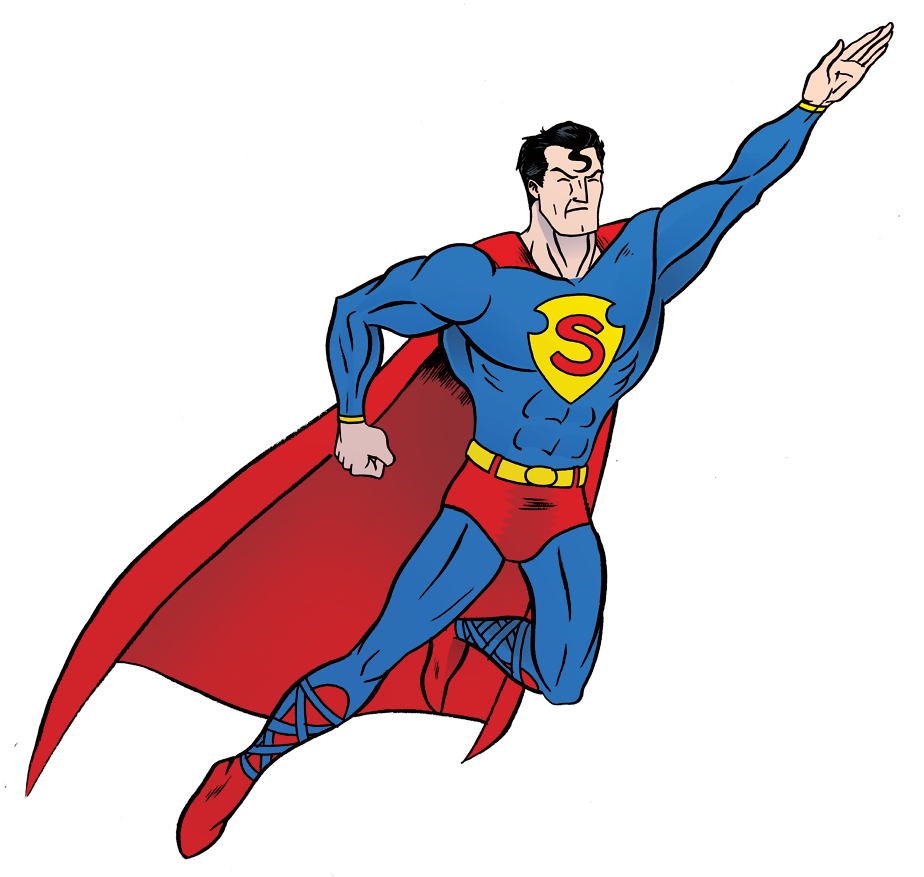 Superman clipart free jpg black and white library Superman Clip Art #19811 - Free Icons and PNG Backgrounds jpg black and white library