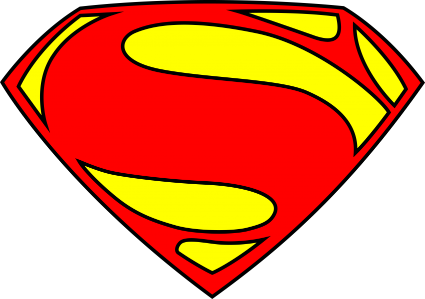 Clipart superman logo clipart library stock Superman Logo Free - Real Clipart And Vector Graphics • clipart library stock