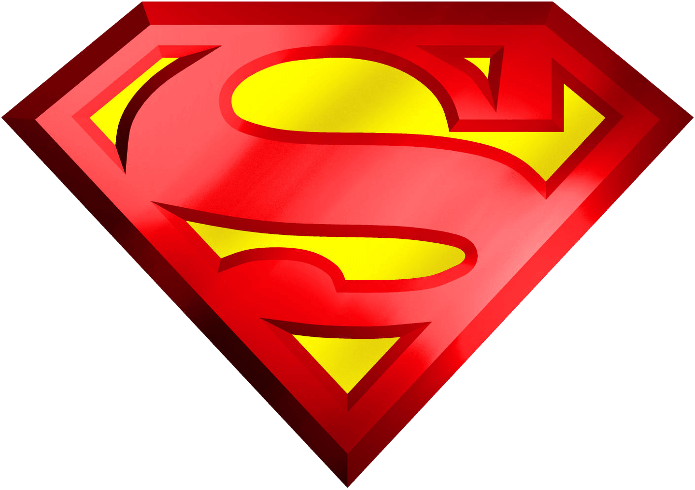 Clipart superman logo vector black and white library Superman Logo 3D Transparent PNG vector black and white library