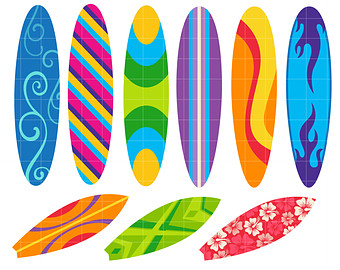 Clipart surfboard graphic freeuse library Surfboard clip art – Etsy graphic freeuse library