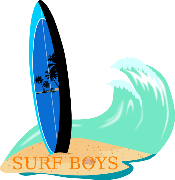 Clipart surfboard picture royalty free Surfboard Clip Art at Clker.com - vector clip art online, royalty ... picture royalty free