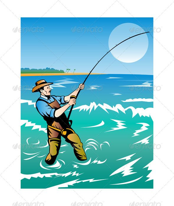 Clipart surfcasting graphic Fisherman Surf Casting | Для торта in 2019 | It cast, Fishing games ... graphic