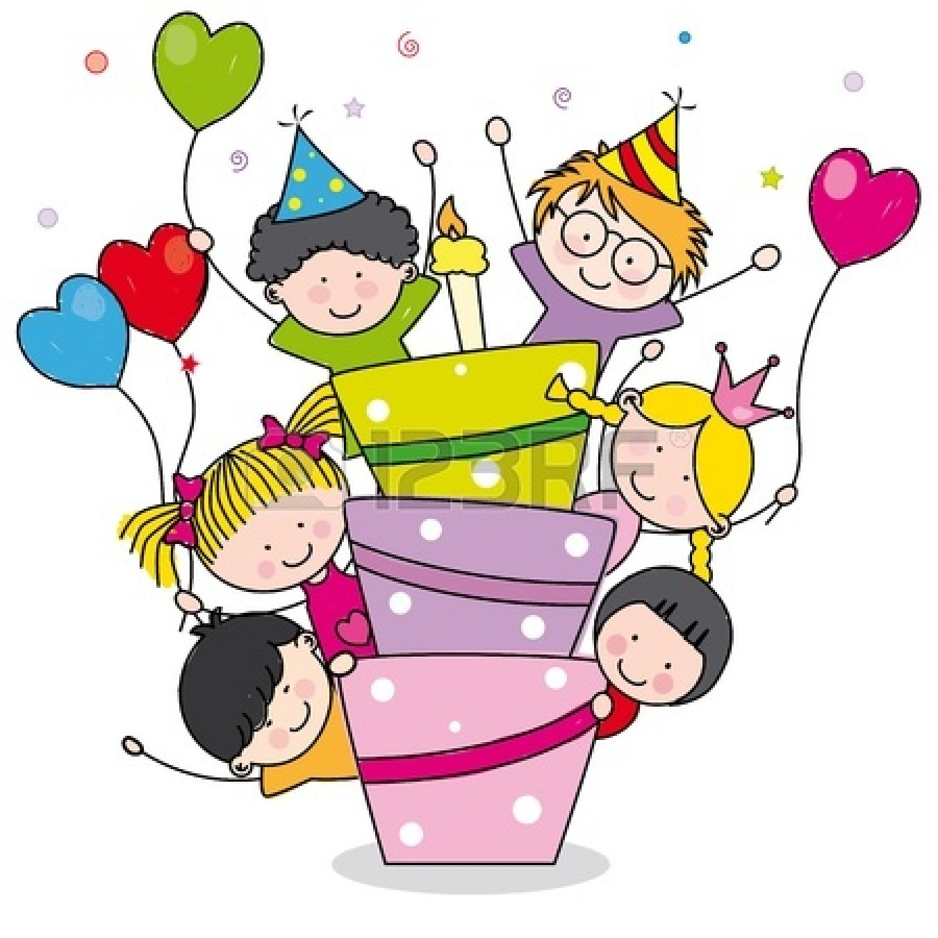 Surprise birthday pictures clipart