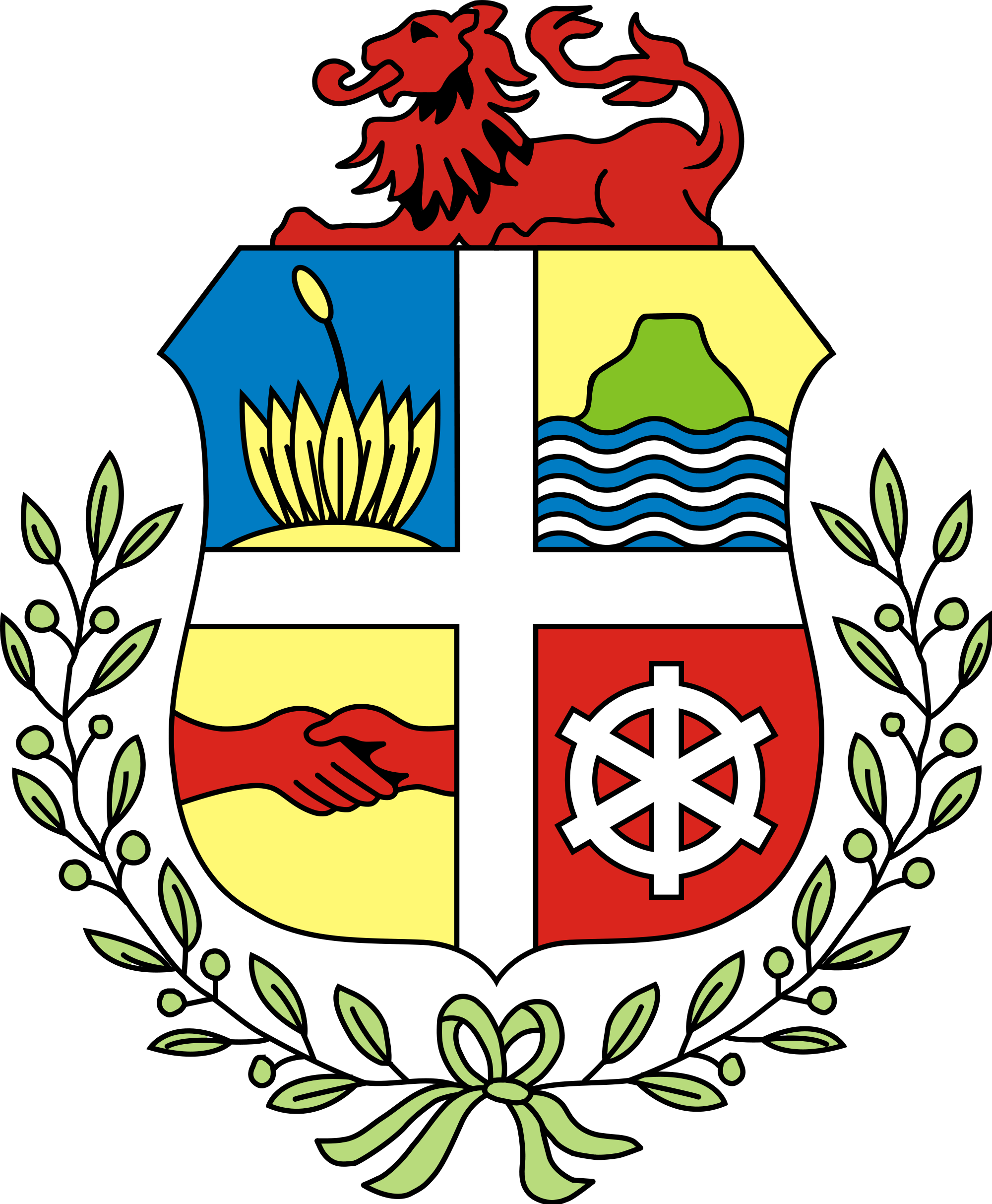 Clipart svg aruba flag png free File:Coat of arms of Aruba.svg - Wikimedia Commons png free