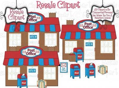 Clipart svg office clip transparent Gingerbread Village Post Office Clipart - $2.00 : Resale Clipart ... clip transparent