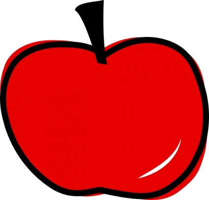 Clipart svg office graphic free Red Apple Clip Art Free Vector In Open Office Drawing Svg Svg ... graphic free