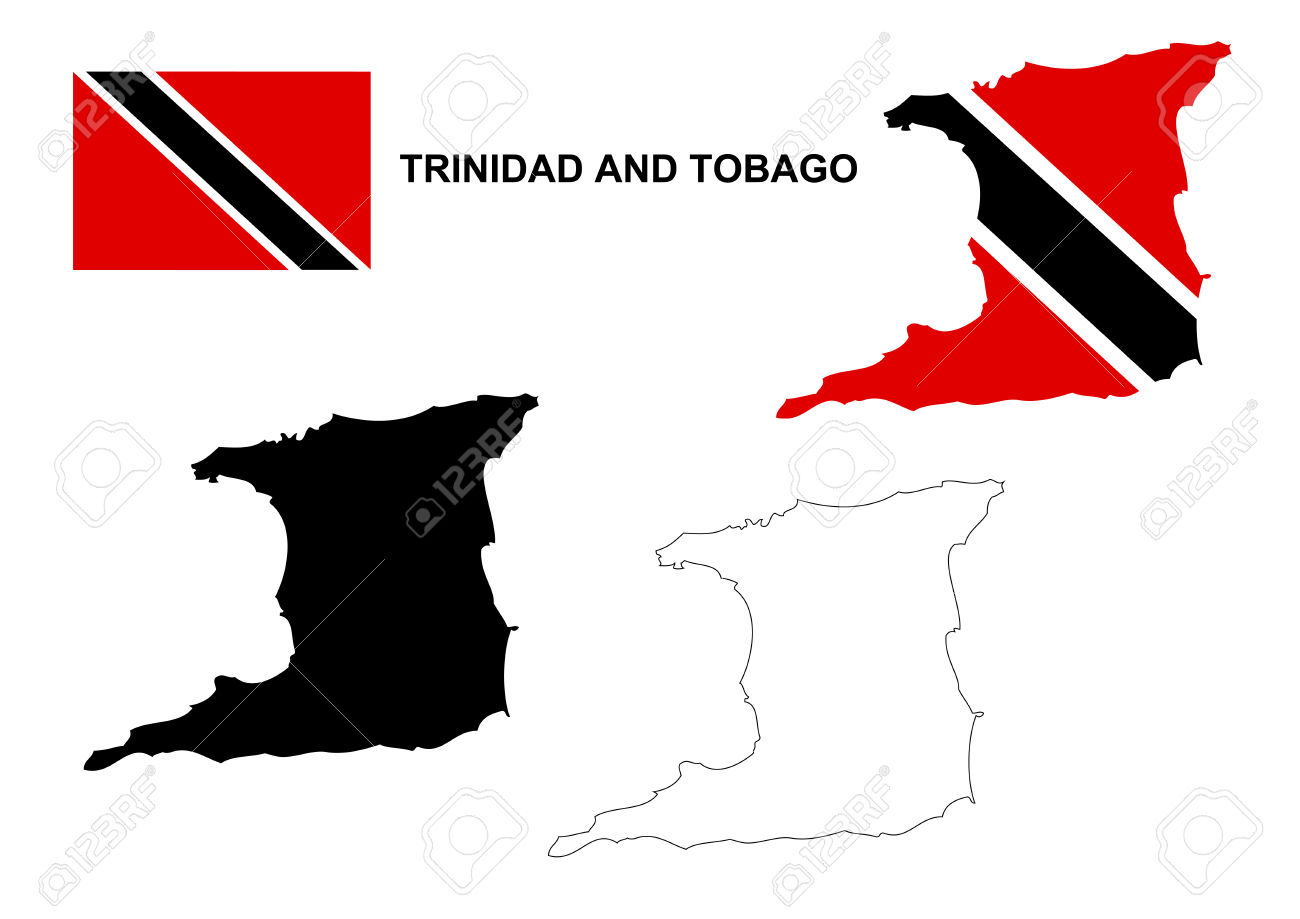Clipart svg trinidad flag clipart black and white library Trinidad and tobago map clipart - ClipartFest clipart black and white library