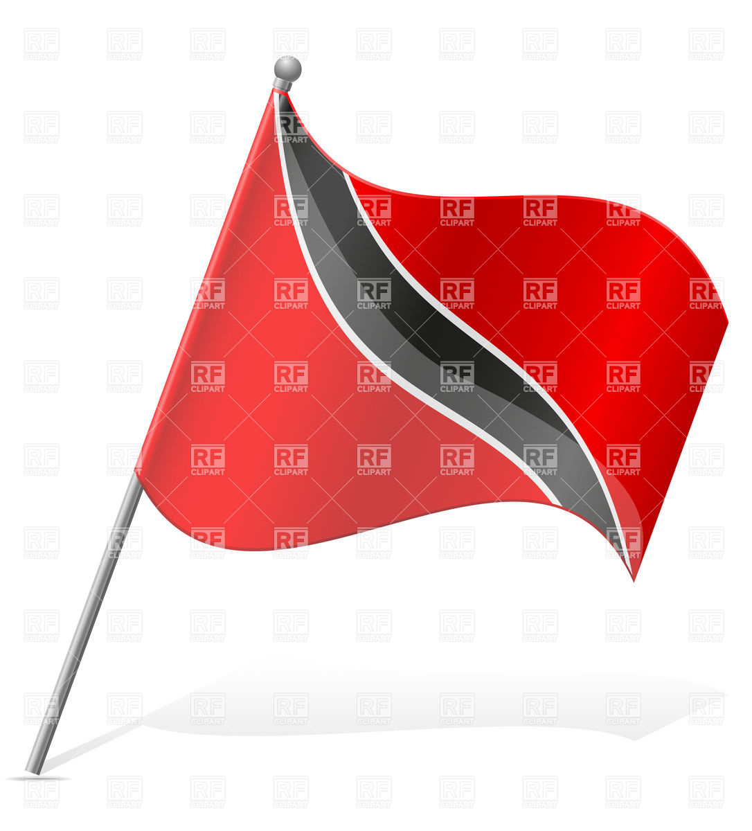 Clipart svg trinidad flag png free library Trinidad and tobago flag clipart - ClipartFest png free library