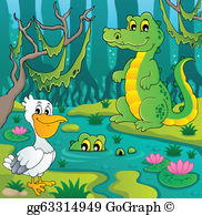 Clipart swamp clip free stock Swamp Clip Art - Royalty Free - GoGraph clip free stock