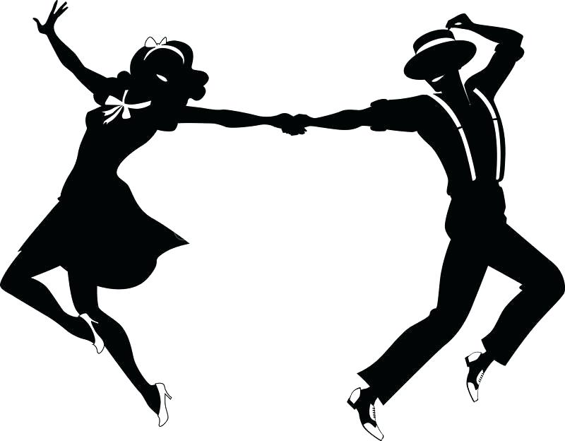 Clipart swing dance black and white library Swing Dance Clipart | Free download best Swing Dance Clipart on ... black and white library