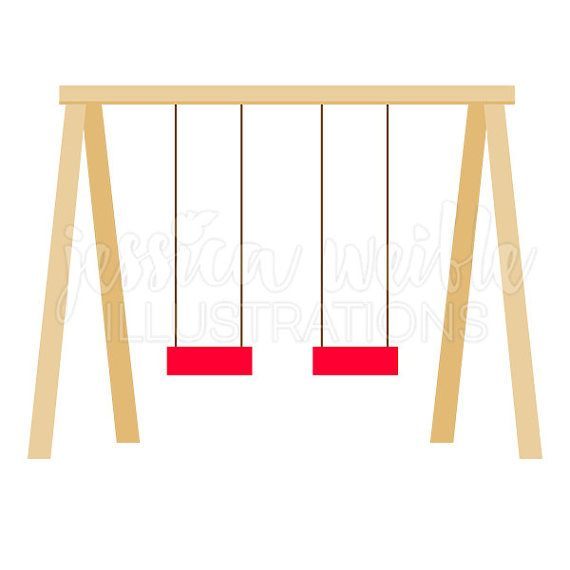 Clipart swing set clip library download Swing Set Cute Digital Clipart, Playground Clip art, Play Ground ... clip library download