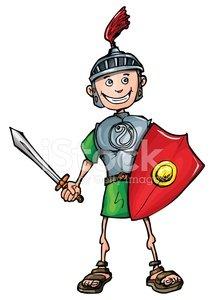 Clipart swordsman vector royalty free library Cartoon Smiling Swordsman premium clipart - ClipartLogo.com vector royalty free library