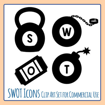 Clipart swot clipart transparent stock SWOT Icons - Strengths, Weaknesses, Opportunities, and Threats Icons Clip  Art clipart transparent stock