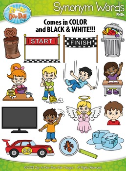 Clipart synonum clip art library library Synonyms Word Clipart Set 2 {Zip-A-Dee-Doo-Dah Designs}   TpT clip art library library
