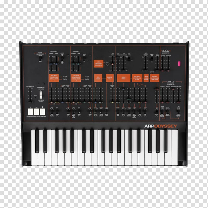 Clipart syth png transparent library ARP Odyssey Minimoog Korg MS-20 Sound Synthesizers Analog ... png transparent library