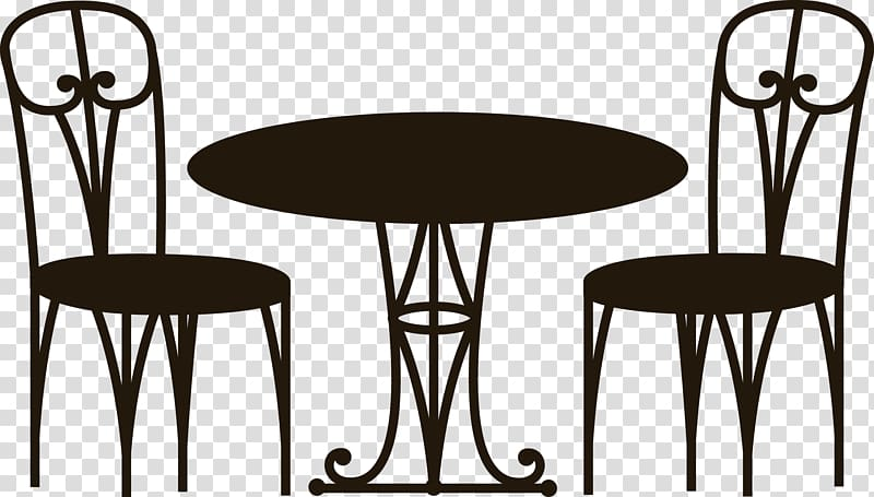 Clipart table and chairs at a restarante graphic royalty free library Coffee table Cafe Chair, Table Chair transparent background PNG ... graphic royalty free library