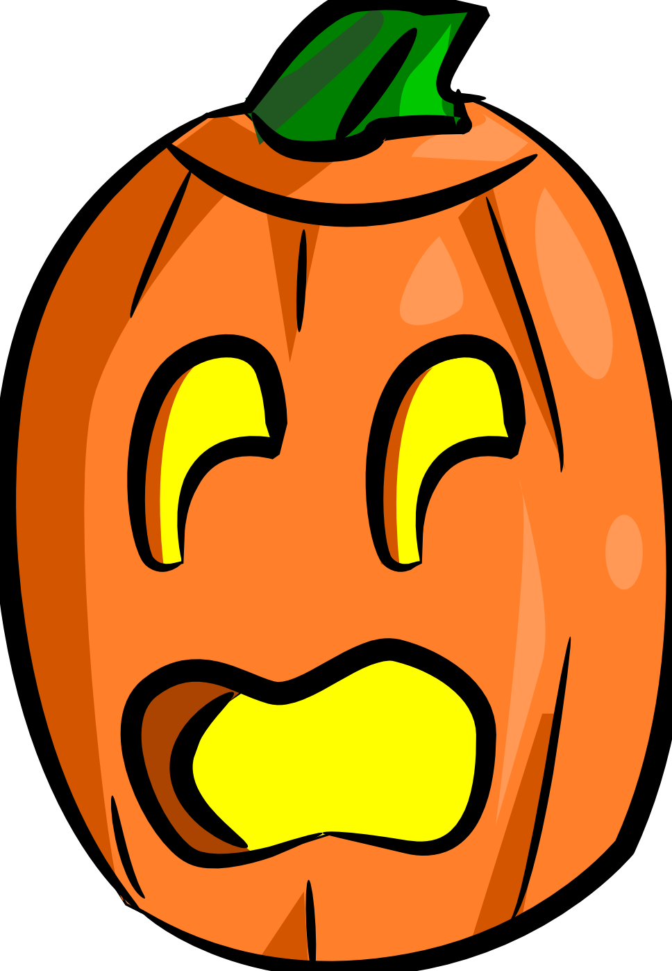 Scared pumpkin clipart image black and white download Jack o lantern totally free clip art - Clipartix image black and white download