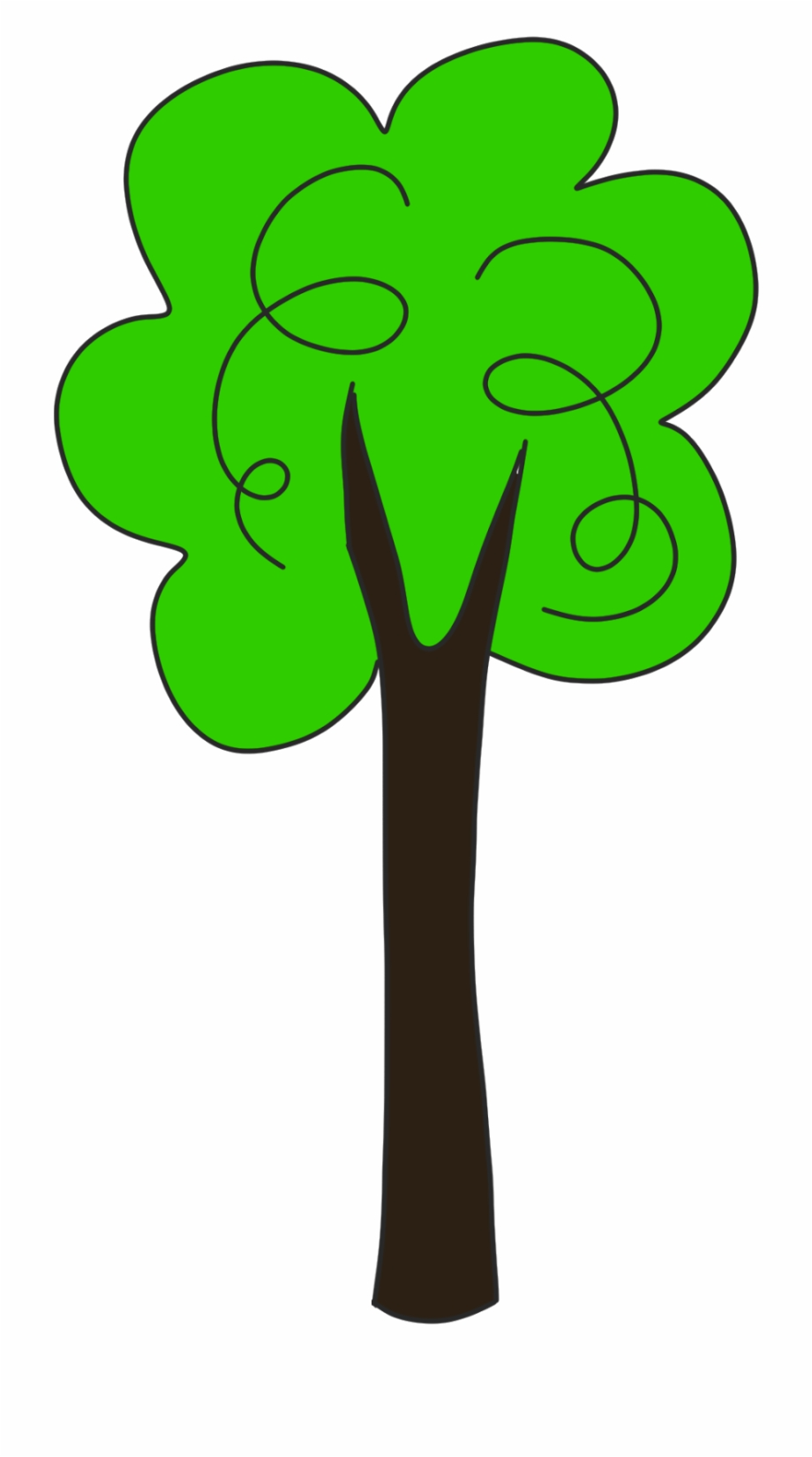 Tall thin fall tree clipart clipart black and white Thin And Thick Tree Clipart - Tall Tree Clip Art, Transparent Png ... clipart black and white