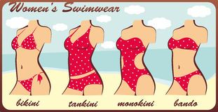 Clipart tankini royalty free Silhouette womens swimwear Royalty Free Stock Images | Miscellaneous ... royalty free