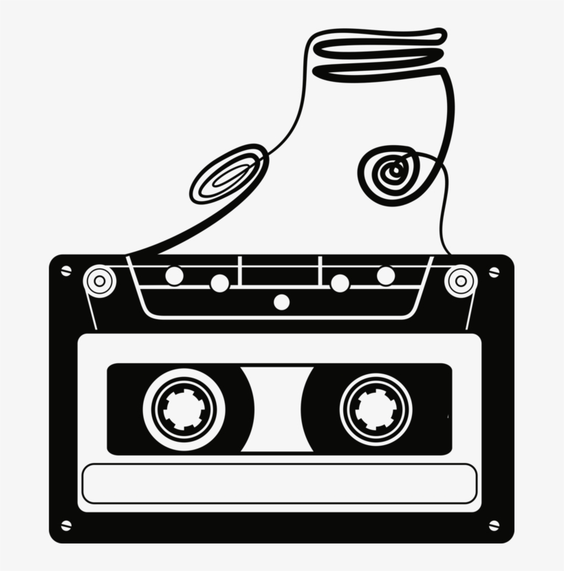 Clipart tape recorder image black and white library Compact Cassette Magnetic Tape Tape Recorder Cassette - Cassette ... image black and white library