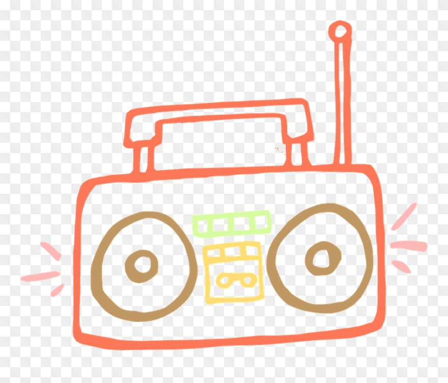 Clipart tape recorder picture free Tape Recorder Clipart 4 By David - Easy To Draw Boombox - Png ... picture free