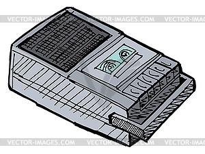 Clipart tape recorder graphic free library Compact tape recorder - vector clip art graphic free library