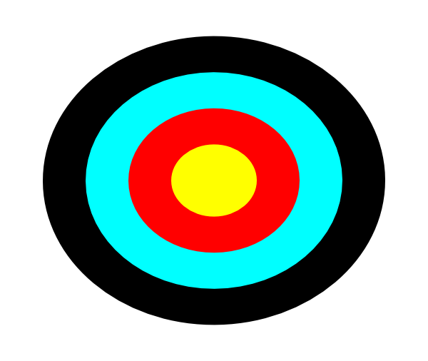 Clipart target picture black and white download Archery target clip art - ClipartFest picture black and white download