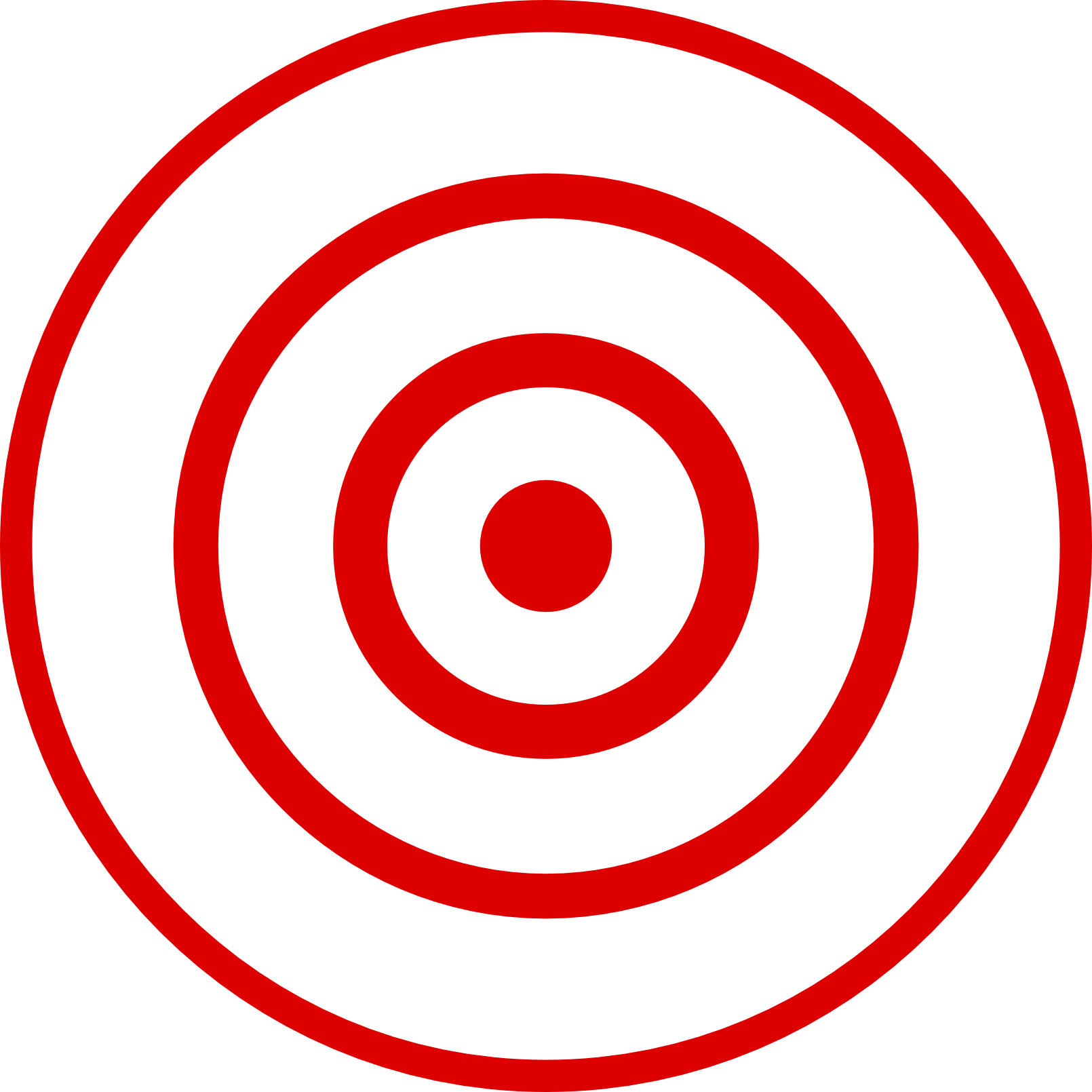 Clipart target bullseye clipart black and white Bullseye Target Clipart - Clipart Kid clipart black and white