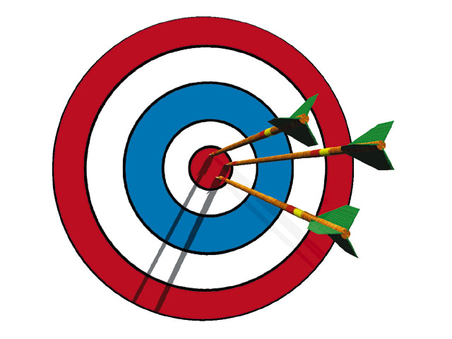 Clipart target bullseye image library library Arrow in bullseye clipart - ClipartFest image library library