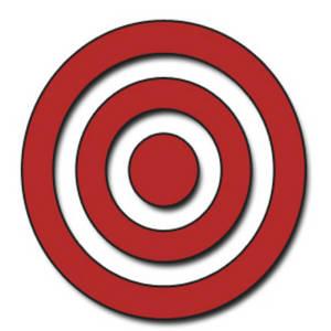 Clipart target bullseye jpg black and white stock Bullseye clipart art - ClipartFox jpg black and white stock