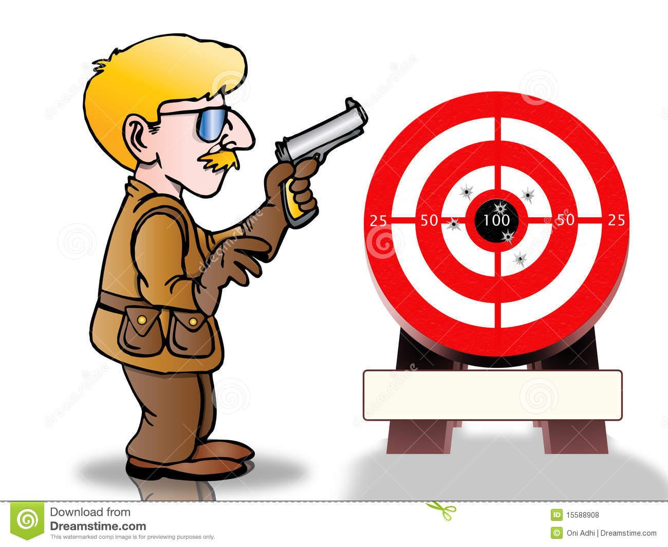 Clipart target shooting jpg transparent stock Gun range clipart - ClipartFest jpg transparent stock
