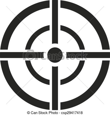Clipart target symbol clip art transparent Vector Clip Art of The aim bag icon. Crosshair and target, sight ... clip art transparent