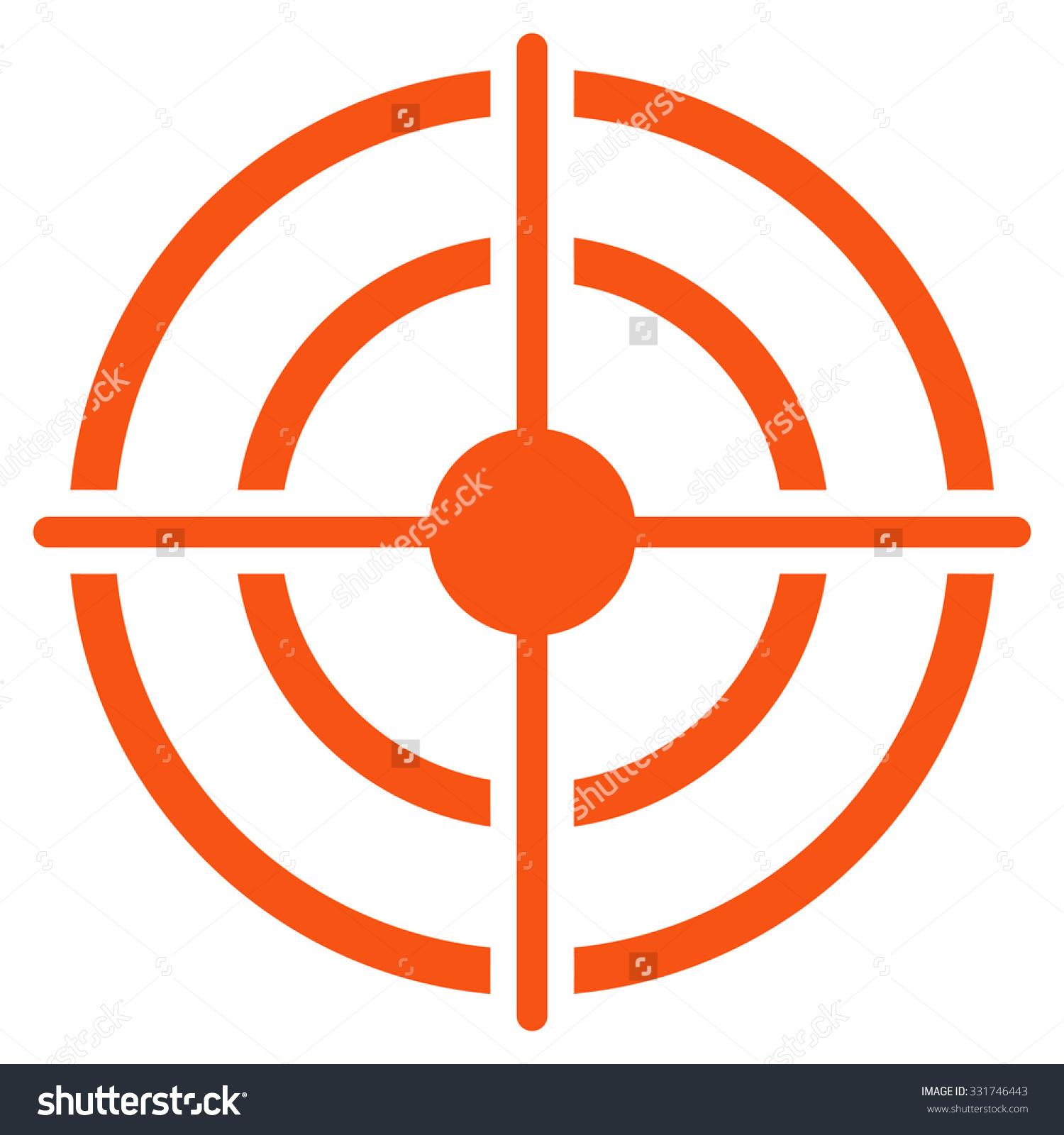 Clipart target symbol vector transparent stock Target Vector Icon Style Flat Symbol Stock Vector 331746443 ... vector transparent stock