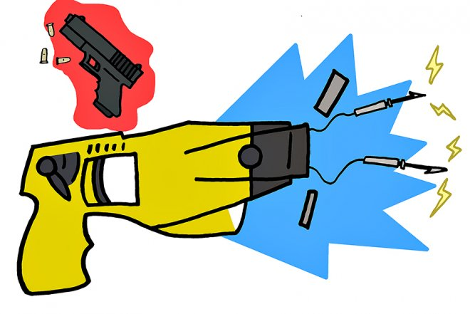 Clipart taser clipart royalty free stock Stun guns and Tasers not prohibited on campus, but remain banned in ... clipart royalty free stock
