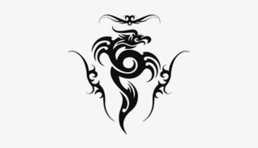 Clipart tattoo effect black and white Cool Effects Clipart Photoscape - Dragon Tribal Tattoo Design PNG ... black and white