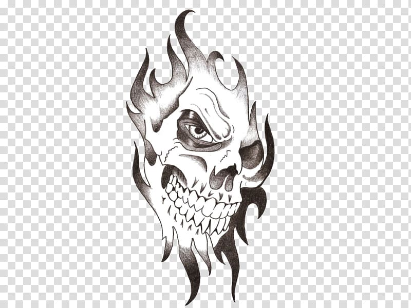 Clipart tattoo effect clip free library Flame skull illustration, Tattoo , Skull Tattoo Free transparent ... clip free library