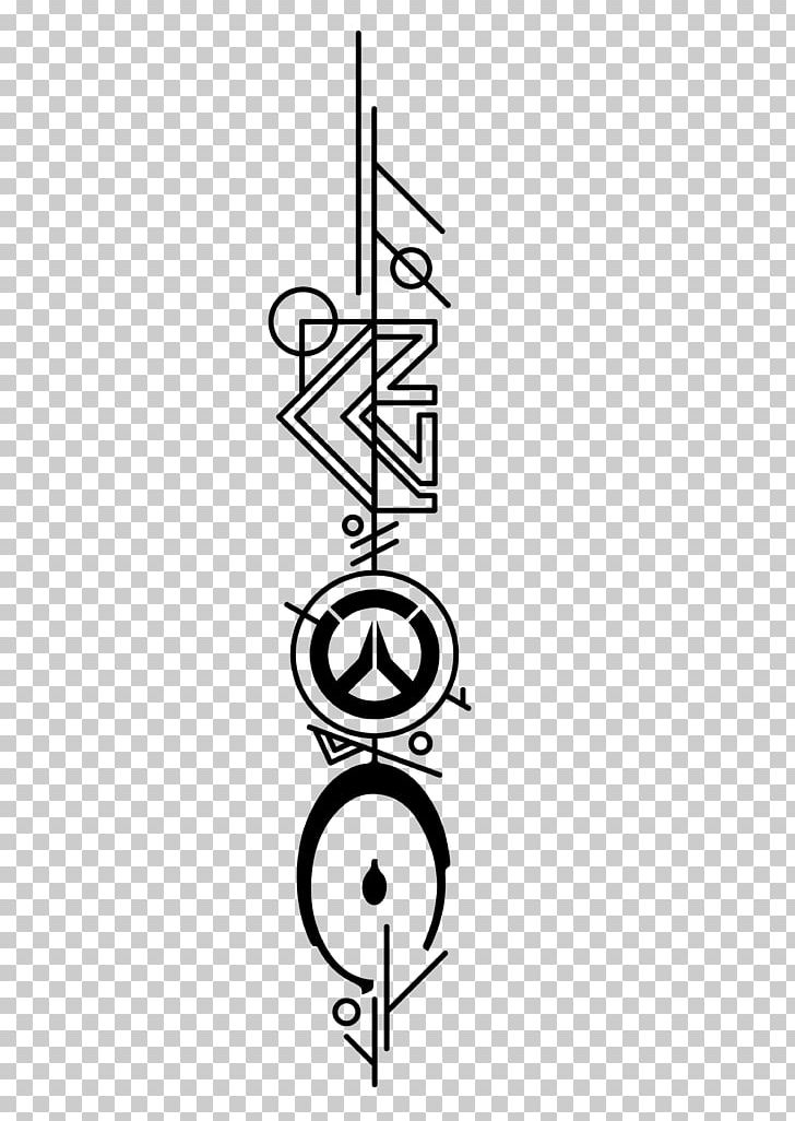 Clipart tattoo effect black and white Tattoo Mass Effect: Andromeda Overwatch Video Game PNG, Clipart ... black and white